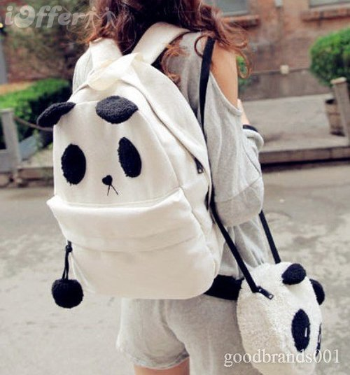 Women-pann-da-cute-backpack-satchel-canvas-handbag-bag-5cb5_large