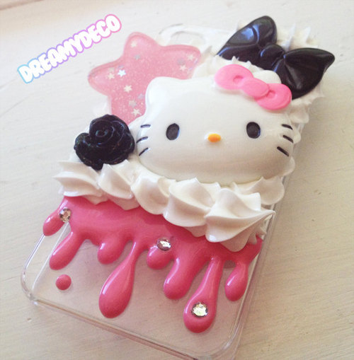 creepy cute hello kitty iphone 4/4s whipped cream by dreamydeco