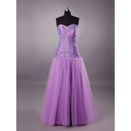Purple Prom Dress on Tulle Sweetheart Floor Length Purple Prom Dress Prlbpr0855 For  358 00