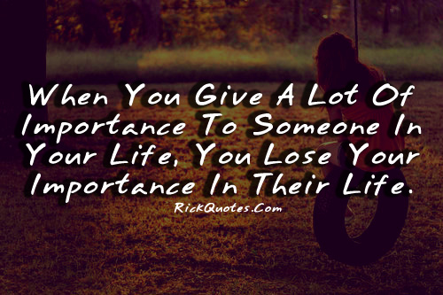 Lose Your Importance