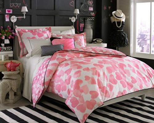 black white and pink bedroom wallpaper hot style design we heart