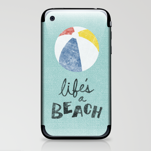 Life's a Beach. iPhone & iPod Skin by Nick Nelson | Society6