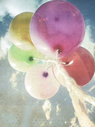 party balloons Art Print by Vin Zzep | Society6