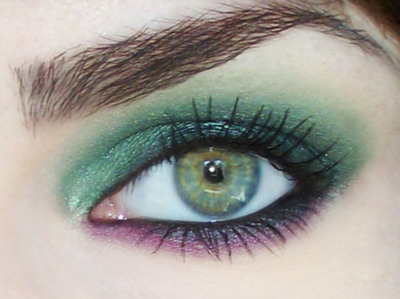 eyebrow, eyeshadow, green eye, green eyes, makeup - inspiring picture on Favim.com
