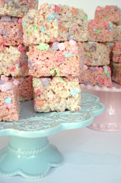 Such Pretty Things: Pastel Rice Krispie Treats