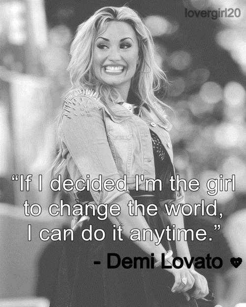 Demi Lovato - Who will I be (quote)