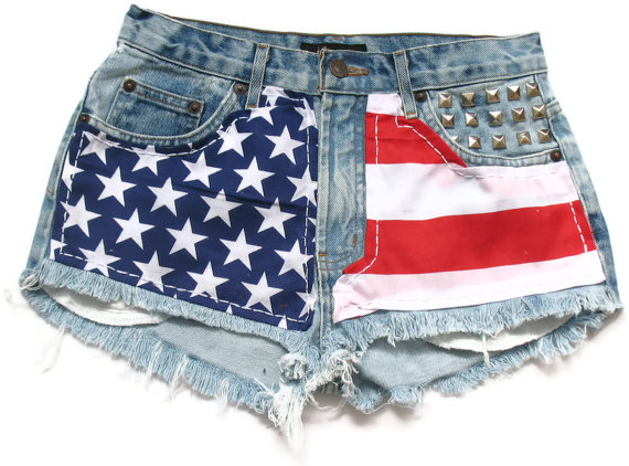 American flag high waisted Levi shorts M by deathdiscolovesyou