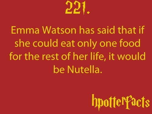 emma watson nutella one food