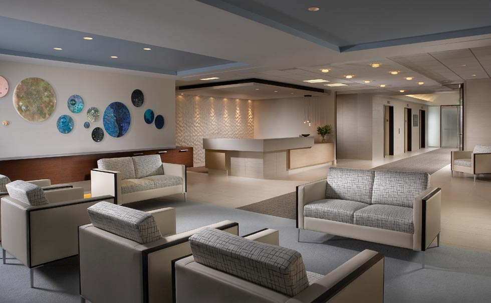 Essential modern office lobby furniture with white color for Corporate furniture design