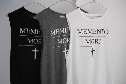 ONCE YOUTH CULT - MEMENTO MORI MUSCLE SHIRT