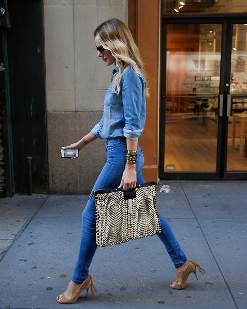 modne szale jesień, moda jesień, street style jesień, jeans, poppy delavigne