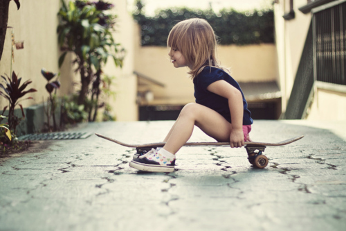 Cute girl on skateboard opinion you