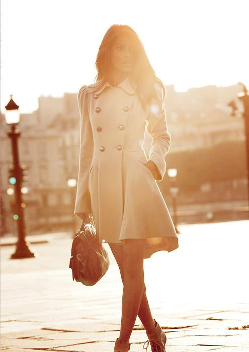 Chic White Coat – Coats with Casual, Trendy, Work, Urban, White, School, Date, Brights Colors, Love it!