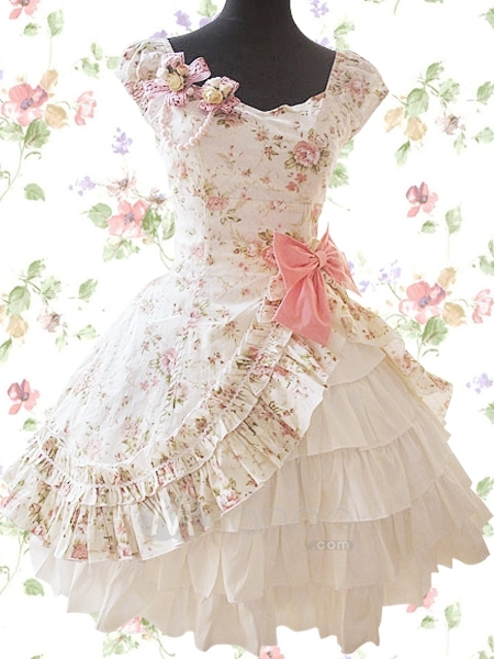 Ivory-floral-cuff-sleeves-side-splitting-bow-multi-layer-cotton-sweet-lolita-dress-33842-2_large
