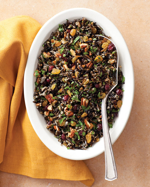 Wild-Rice Pilaf with Cranberries and Pecans - Martha Stewart Recipes
