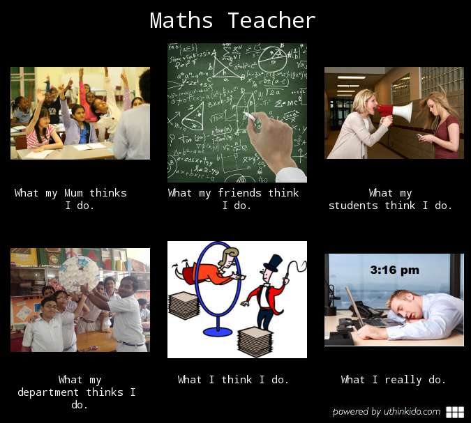 Intellectual Property Meme: Maths Teacher, What People Think I Do, What I Really Do