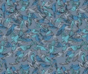 birds blue wallpaper