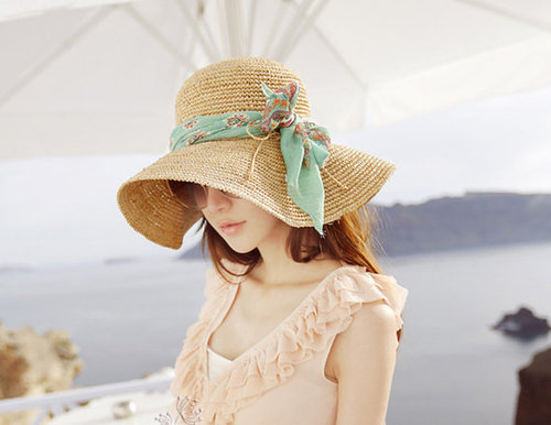 Crochet Women Sun Hat With Wide Brim Accepting Custom Order on Luulla