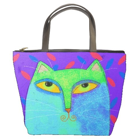 product hugerect 41181 6639 1341526453 8edb76cb7fa974e04da6f421ae6be08a large Small Handbag Tote Bag Printed With My Abstract Blue Cat Painting on Luulla