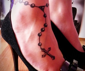 rosary tattoo