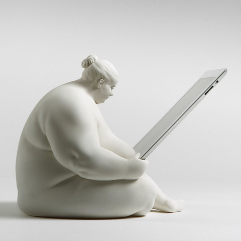 If It's Hip, It's Here: Venus of Cupertino iPad Docking Station by Scott Eaton.