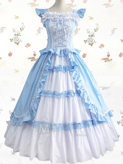 Sky-blue-and-white-pleated-square-cotton-sweet-lolita-dress-34073-1_large