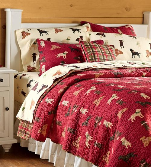 Labrador Print Dog Bed