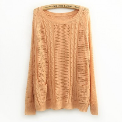 All-match_twisted_hollowed_out_long_sleeve_jumper_orange_1_large