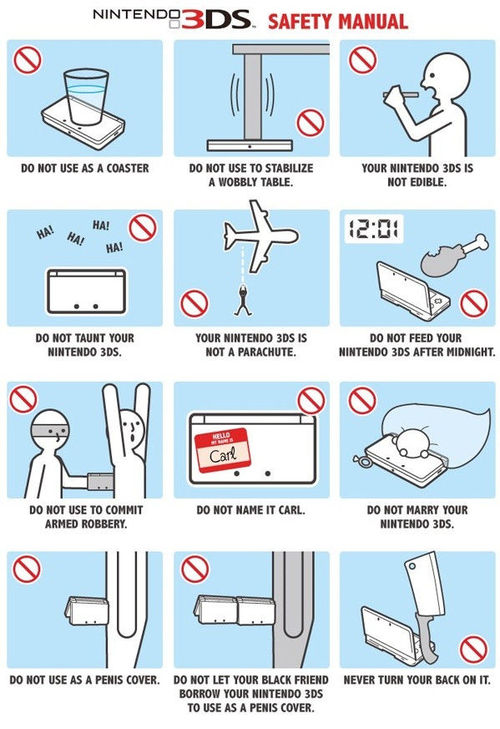 Humor me Nintendo3DS Safety Manual
