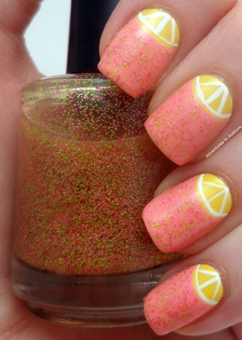 Awesome Nails / Adventures In Acetone: Anyone Thirsty For Pink Lemonade?