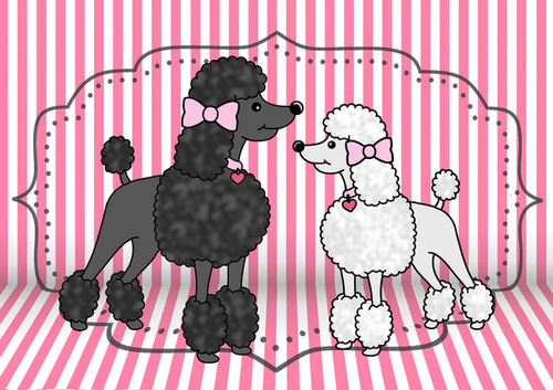 602817 3886783 lz large Pretty Poodles Art Print by Jade Boylan | Society6