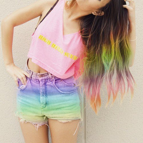 海外のおし... Rainbow Hair Tumblr