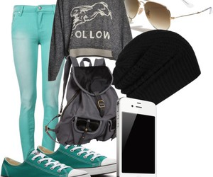 outfit cool blue