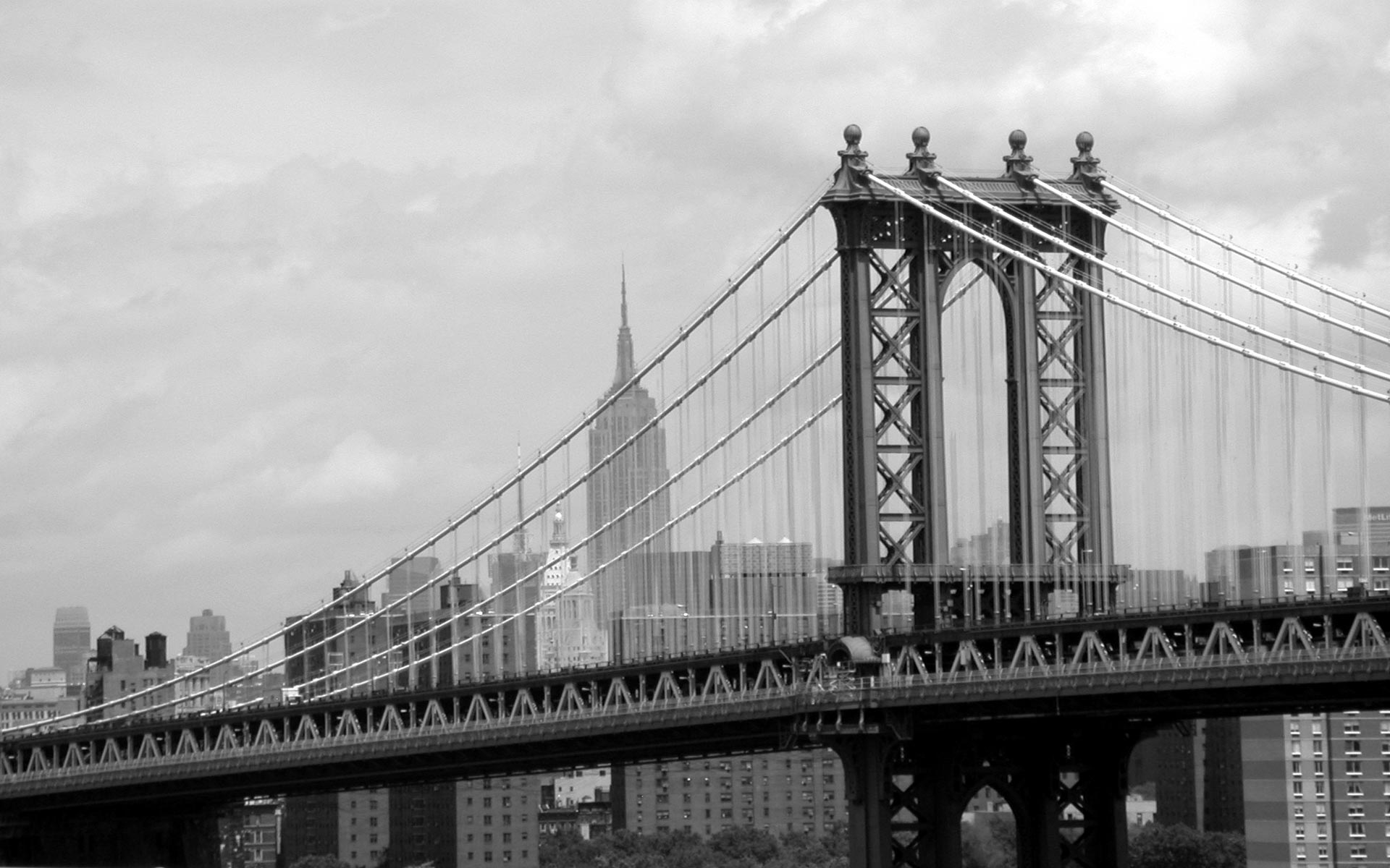 Manhattan Bridge, New York, USA 1920x1200 Wallpapers