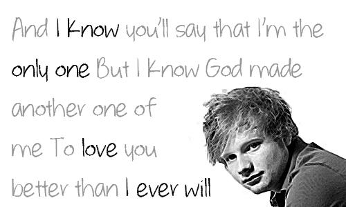 Ed Sheeran Lyrics UNI Pinterest