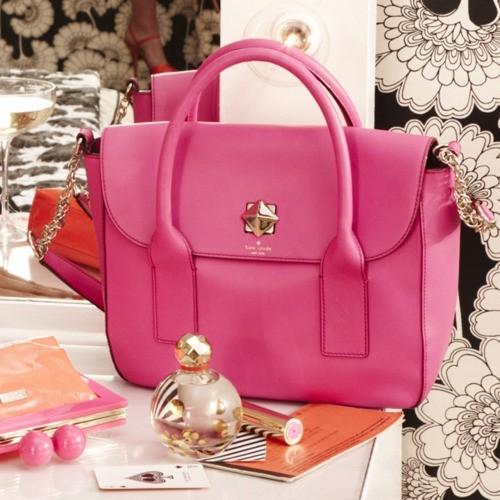 Neon Brights / Every woman needs a pink bag.