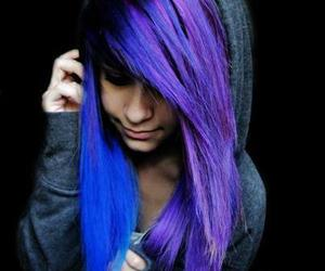 blue purple hair girl