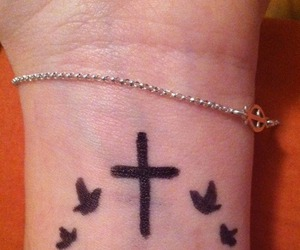 cross tattoo faith love