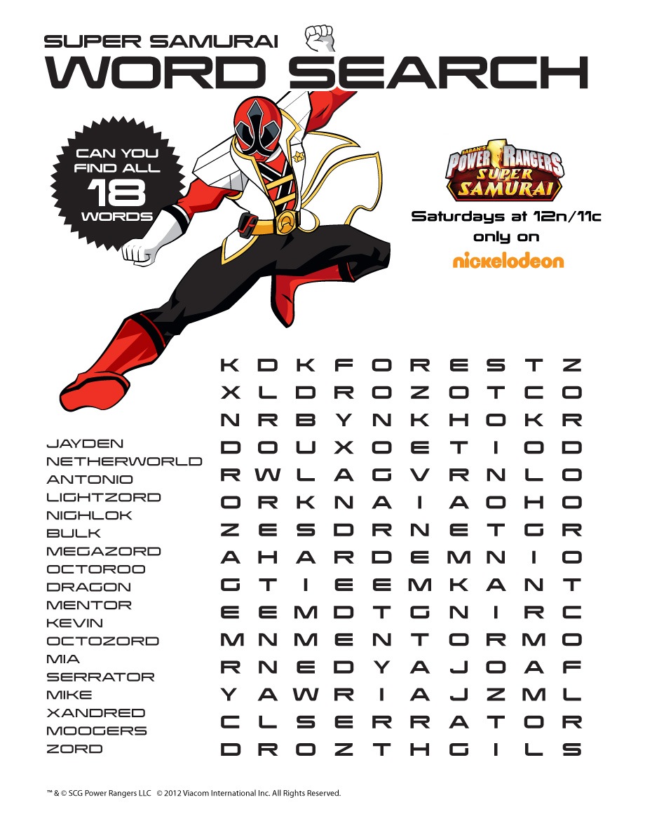 power rangers downloads games word search we heart. Black Bedroom Furniture Sets. Home Design Ideas