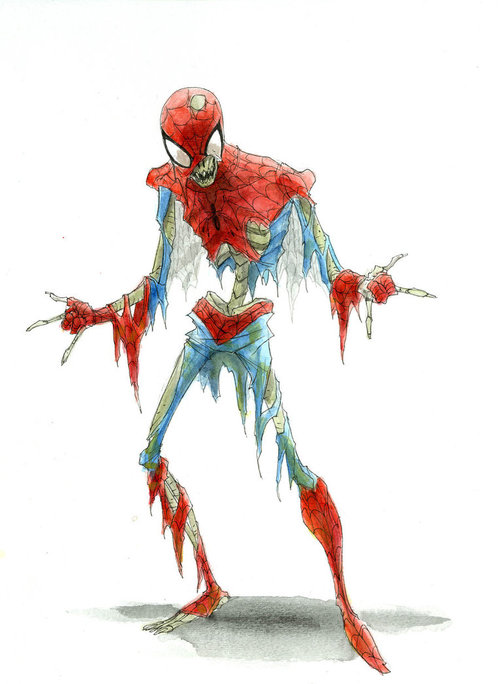 ZOMBIE SPIDERMAN by ~RM73 on deviantART
