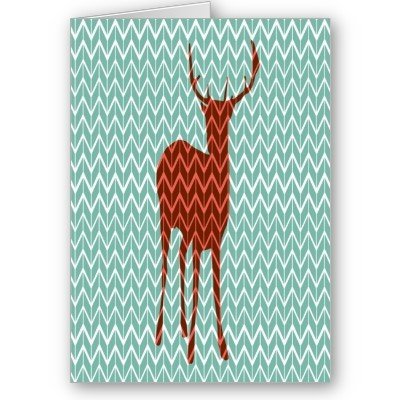 woodland deer greeting card p137914096192047288b26lp 400 large Woodland Deer Greeting Card from Zazzle.com