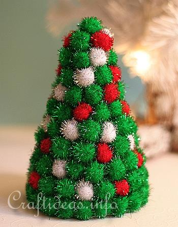 Christmas Craft - Styrofoam Christmas Tree Decorated with Glass ...