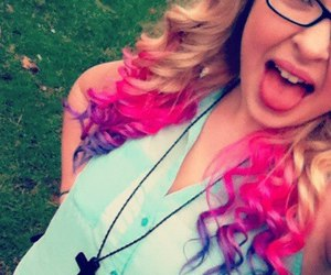 tips dyed pink and purple