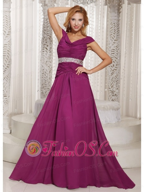 fuchsia off the shoulder ruched bodice and beading customize mother of the bride dress for spring 5539 7 large Fuchsia Off The Shoulder Ruched Bodice and Beading Customize Mother Of The Bride Dress For Spring  $146.28