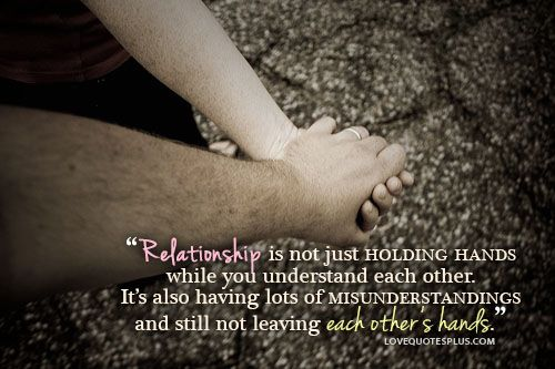 Relationship is Not Holding Hands is Not Just Holding Hands