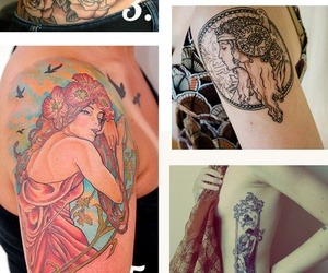 art nouveau tattoo hot