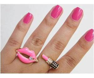 nails cute girls pink