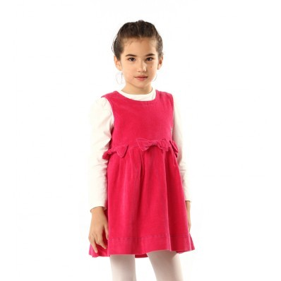 Girls Dress Designs on Girls Cute Bow Design Fuchsia Vest Dress   Kids Girls Clothing   Kids