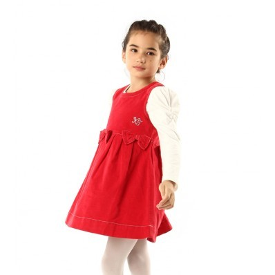 Girls Dress Designs on Kids Girls Clothing Girls Cute Bow Design Red Vest Dress 002760 Large