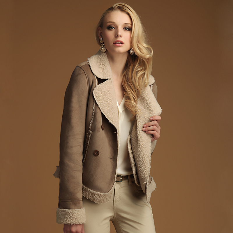 0173492e3b9 Tobacco Faux Suede & Fur Full-Length Coat. Suede Fur Coat